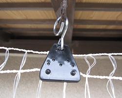 come ancorare la rete al soffitto della vostra veranda o balcone