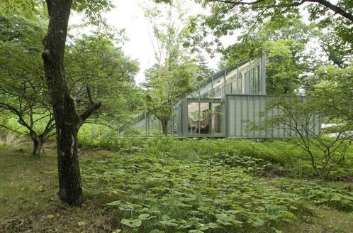 Una casa che si integra con la natura