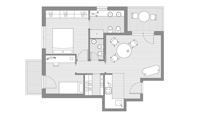 Casa piccola madori architettura naturale for Design frontale della piccola casa