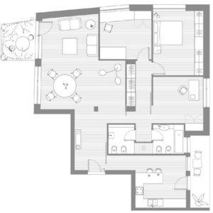 Casa con la porta dipinta